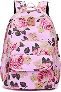 School Backpack,Rucksack Fits Laptop Water Resistant College School Computer Rucksack Bag Travel Camping Casual Daypacks Lightweight Laptop Bag with USB Charging Port