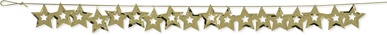 Confetti Party Garland, gold Metallic Stars