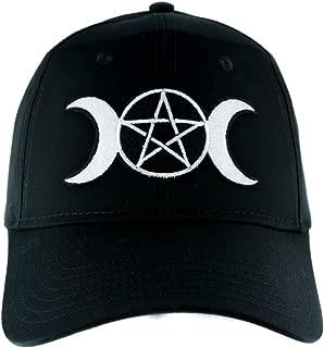 Triple Moon Goddess Wicca Hat Baseball Cap Alternative Clothing Pagan Witchcraft