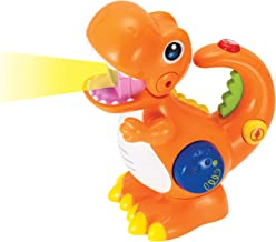 KiddoLab Tikki The Dino Voice Changer, Recording & Playback Toy Microphone.Sing Along Kids Microphone with Fun Colorful Light . Musical Dinosaurs for Toddlers Ages 2y+