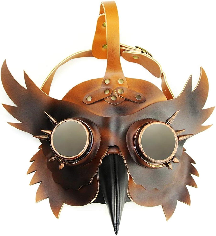 increíbles descuentos JINHONGH Piel Steampunk Plaga Doctor Bird Bird Bird másCochea de Pico Corto Faux Faux CosJugar Halloween Traje de Navidad Props (Color   Style1)  tienda de descuento