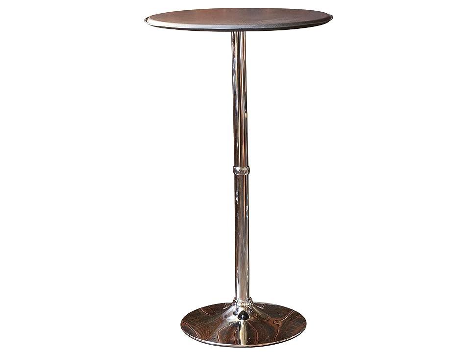懐並外れて精緻化ノースオレンジ(North Orange) ラウンドバーテーブル レザー ダークブラウン ハイテーブル 高さ103cm WCHL-60-DBR
