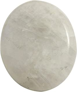 Gems&JewelsHub Piedra lunar arcoíris ovalada cabujón natural suelta piedra preciosa 50,65 quilates OG95