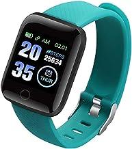 Smart Horloge Mannen Vrouwen Smartband Bloeddrukmeting Waterdichte Fitness Armband Hartslagmeter Smartwatch (Kleur: Paars)...