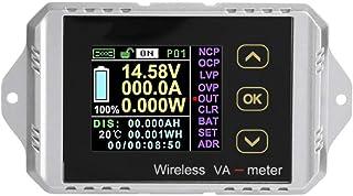 DC-ampèremeter, draadloos LCD-kleurenscherm DC-spanning ampèremeter vermogensmeter watt tester kan spanning, stroom, vermo...