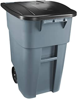 Rubbermaid Commercial Products FG9W2700GRAY Brute Rollout Heavy-Duty Wheeled..