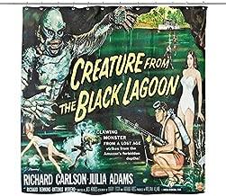 Bad-Tiki Creature from The Black Lagoon Shower Curtain Horror Movie