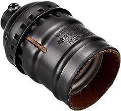 SGJFZD 54x31mm Vintage Aluminum Pendant Lamp Holder Light Lamp Bulb Base Holder with E27 Screw ( Color : Black )