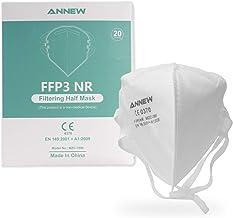20X ANNEW FFP3 Schutzmaske Mund Nasen Schutzmaske Atemschutzmaske Gesichtmaske, 5-Lagen-Atemschutzmaske, Erwachsenenmaske ...