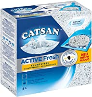 Catsan Active Fresh is a highly effective clumping litter with activated carbon grains for optimal odour control The moisture-activated CATSAN fresh fragrance in CATSAN Active Fresh clumping litter provides long-lasting freshness Catsan Active Fresh ...