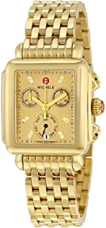 Michele Deco Gold-Tone Chronograph Ladies Watch MWW06P000244