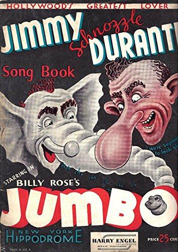 Jimmy Durante 'JUMBO' Billy Rose / New York Hippodrome 1936 Song Book