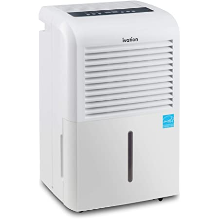 Ivation 4,500 Sq Ft Energy Star Dehumidifier with Pump, Large Capacity Compressor Includes Programmable Humidity, Hose Connector, Auto Shutoff and Restart and Washable Filter (4,500 Sq Ft W/ Pump)