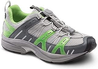 Dr. Comfort Refresh Women's Therapeutic Diabetic Extra Depth Shoe: Grey/Lime 11 Medium (A-B)