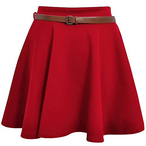 bd8082f5 Red Skater Skirt: Amazon.co.uk