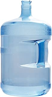 For Your Water 5 Gallon 18.92 Liter BPA Free Plastic Reusable Water Bottle Container Jug with Handle (Made in USA) 55MM Crown Top with Dew Cap 10.75