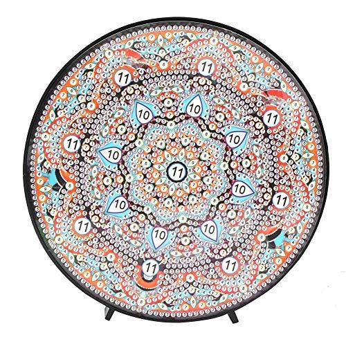 Kit de pintura de diamante Mandala con luces de noche LED Lámpara de mesita de noche de pintura de diamante DIY para decoración de vacaciones(ZXD031)