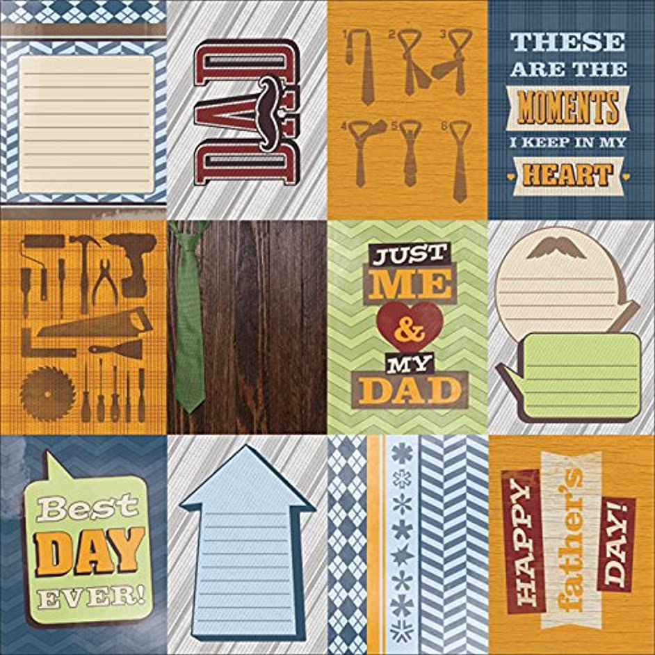 Paper House Productions P-0730E Dad Tags Paper, 12 by 12-Inch (25-Pack)