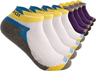 Low Cut Athletic Running No Show Compression-Fit Socks for Men and Women – pack of 4/6 pairs