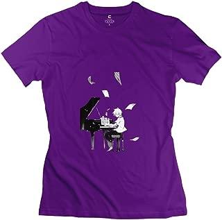 StaBe Women's Addict Piano Bass Life T-Shirt 100% Cotton Humor