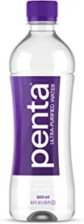 Penta Ultra-Purified Water, 500mL (Pack of 24), Oxygen Infused Natural pH Hydration, Solar-Powered 13 Step Purification Process