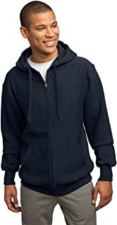 Sport-Tek Mens Super Heavyweight Full-Zip Hooded Sweatshirt, True Navy