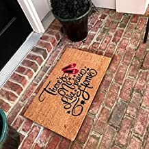 Tar Heel MarketPlace Mats Natural Coir Non Slip There Is No Place Like Home Floor Entrance Door Mat Indoor/Outdoor (18, 30)