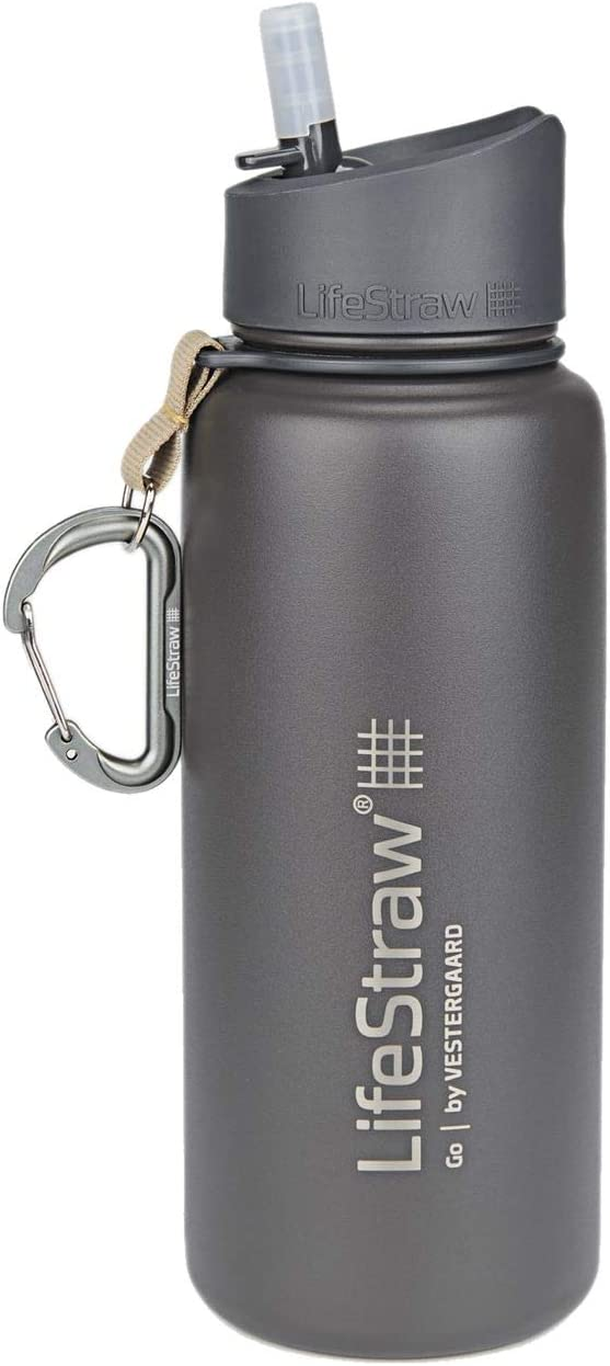 LifeStraw Go Stainless Steel Ranking TOP6 Water Filter Bottle Columbus Mall with 2-Stage In