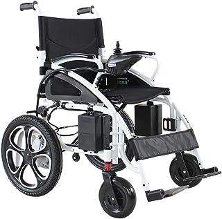 Viajes eléctrico Powerchair + 18Ah Baterías, Heavy Duty Potente Motor de Doble Silla de Ruedas eléctrica Plegable motorizado sillas de Ruedas eléctricas (Color : B-Manage The Battery)