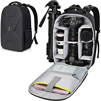 Endurax Camera Backpack Waterproof for DSLR SLR Photographer Camera Bag for Mirrorless Camera with Hardshell Protection
