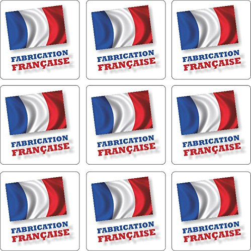 Akachafactory Set 9X Autocollant Sticker Artisan Fabrication Francaise Made in France