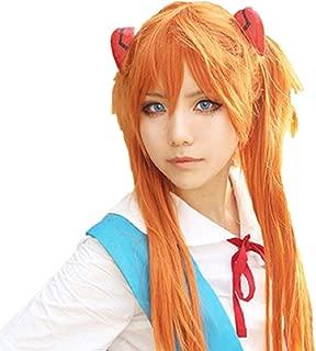 Neon Genesis Evangelion NERV Orange Asuka Cosplay Costume Wig