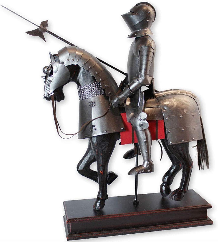 precios mas baratos Estatua del caballero de escritorio, escritorio, escritorio, Caballero medieval francés Estatua armadura Figura Armadura Armadura Caballero Estatua gótica  para barato