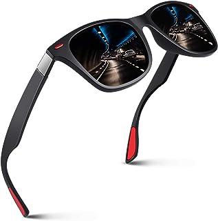 Polarized 80's Retro Classic Square Frame Sunglasses Men...