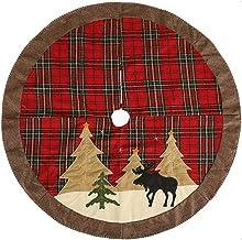 Christmas Tree Mat Christmas Snow Pine Tree Pattern Tree Skirt Christmas Home Decorations Xmas Tree Skirt Seasonal Décor (...