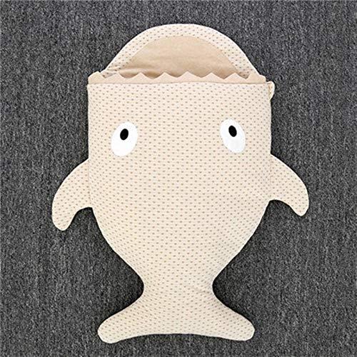 ZHSGV 90cm de algodón del bebé Sacos de Dormir Infantil Anti-Kick Mantas for la decoración del hogar de 0-12 Meses bebé recién Nacido Juguetes tiburón Saco de Dormir (Color : Light Brown)