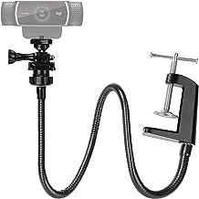 25 Inch Webcam Stand - Enhanced Desk Jaw Clamp with Flexible Gooseneck Stand for Logitech Webcam C920,C922,C922x,C930,C61...
