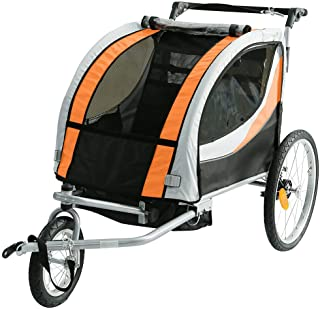 Little Bosses R US Baby/Child Bicycle Trailer   Dual Seater, Durable & Waterproof Infant's Stroller   Best Pram for 1 to 5...