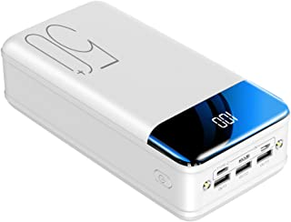 Portable Charger Power Bank 50000mAh LCD Display Power Banks with LED Flashlight, Portable Phone Charging Tri-Outputs and ...