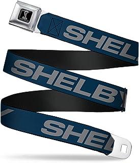 Buckle-Down Seatbelt Belt - SHELBY Bold Blue/Gray