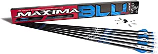 Carbon Express Maxima BLU RZ Fletched Carbon Arrows with RED Zone Technology and Blazer Vanes, 6-Pack