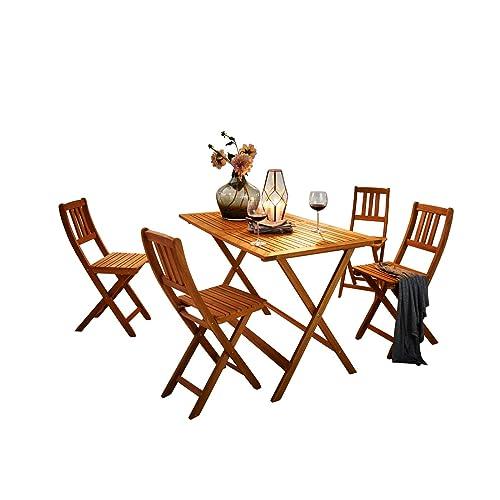 Set Tavolo E Sedie Da Giardino In Legno.Tavoli E Sedie Da Giardino In Legno Amazon It