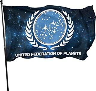 Nsafinhwv United Federation of Planets Magic Flag 3x5 Decorations Party Supplies