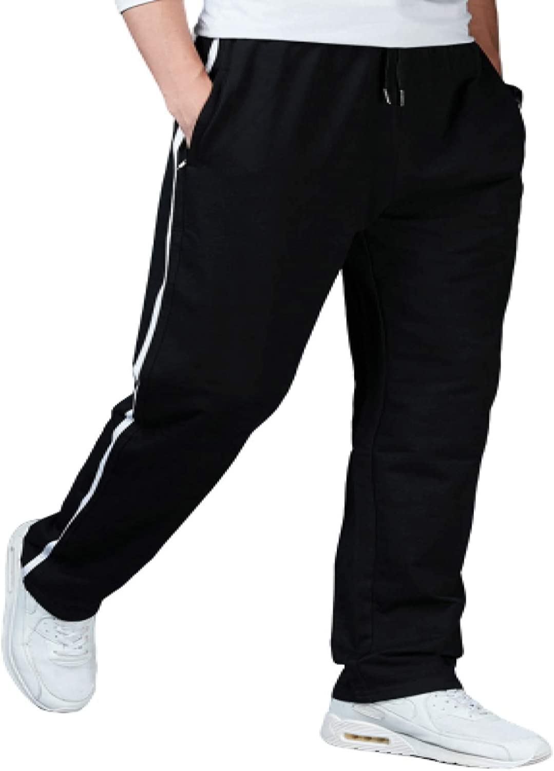 Attention brand Mens Sweatpants Casual Trousers Loose Wide S Spring new work one after another Big Side Legs Sizes
