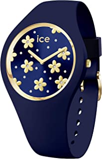 Ice-Watch - Ice Flower Precious Blue - Montre Bleue pour Femme avec Bracelet en Silicone - 017578 (Small)