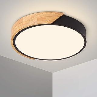 Plafonnier LED 24W Lampe Plafond avec Télécommande Luminosité Réglable Luminaire Salle de Bain Rond Ultra Mince Moderne po...