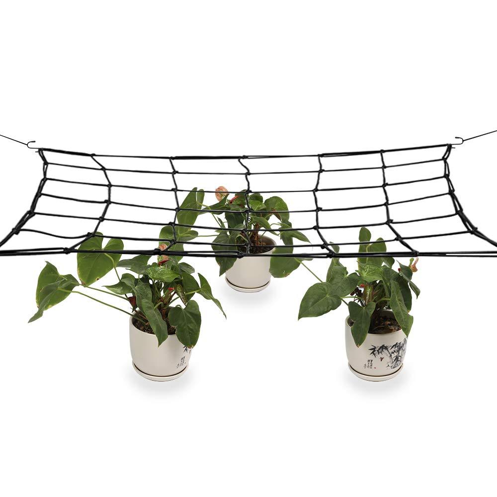 JYCRA Red elástica para Enrejado de jardín, Red Flexible de Soporte para Plantas de jardín con Ganchos de Acero para 4 x 4 pies y más tamaño: Amazon.es: Jardín