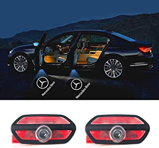 2 pcs Door LOGO projector Car Courtesy LED Light with Pattern Shadow Welcome Lamp for Mercedes-Benz W222 S-Class 2014-2018