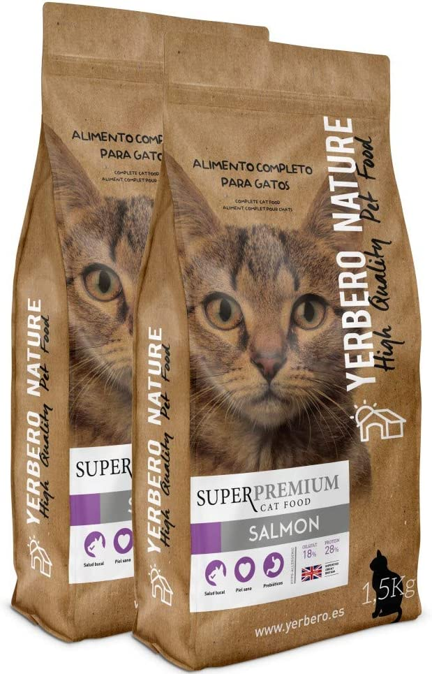 YERBERO Nature Chicken Meat Comida Superpremium para Gatos 1,5kg: Amazon.es: Productos para mascotas