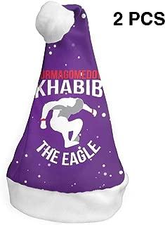 Mniunision Khabib-NurmagomedovThe-Eagle Christmas Santa Hat, Christmas Hat Decoration Velvet Plush Super Soft2 Pack